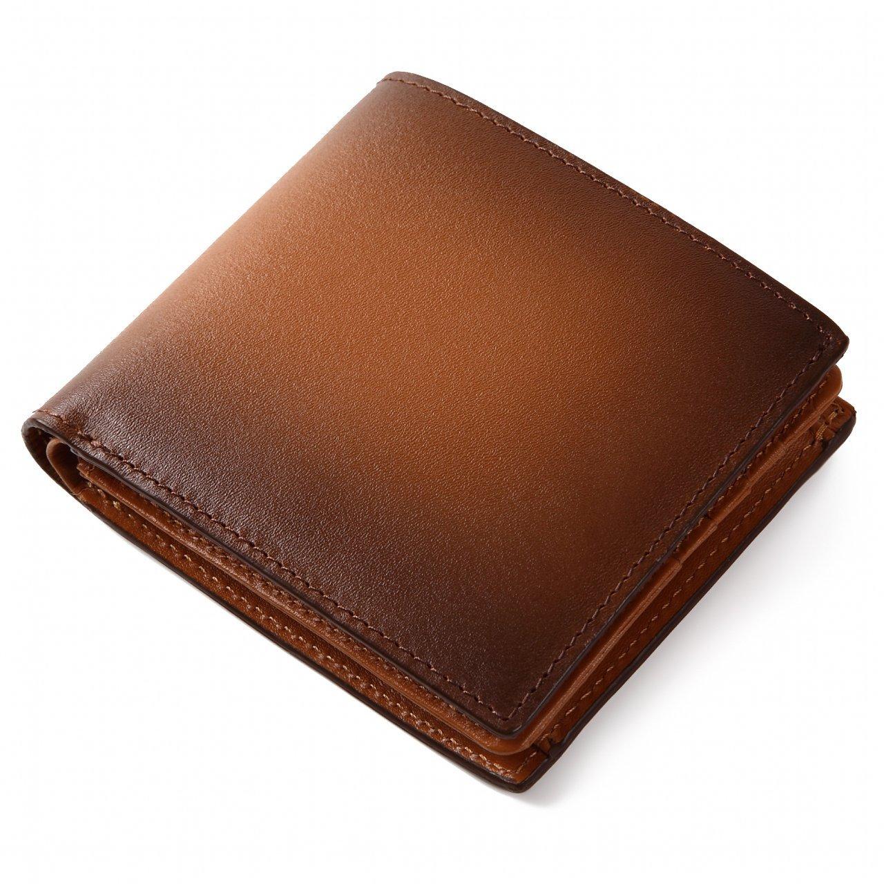 (ラファエロ) Raffaello 一流の革職人が作る スフマート製法で仕立てたメンズ二つ折財布 B01GT72X4I ロイヤルブラウン ロイヤルブラウン