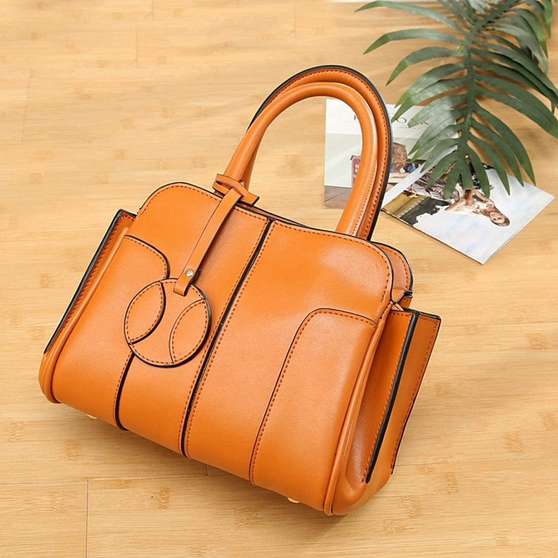 Lorachun Female Elegant Craftsmanship Bag Hit Color Shoulder Bag Messenger Bag Large-capacity HandBag
