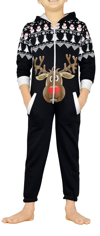 SkylineWears Unisex Kids Boys Girls Hooded Printed Onesies Jumpsuits One Piece