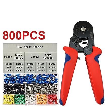 6-4 Ferrule Crimper Plier Hand Crimp Tool /& 1200 x Wire Connectors Terminal