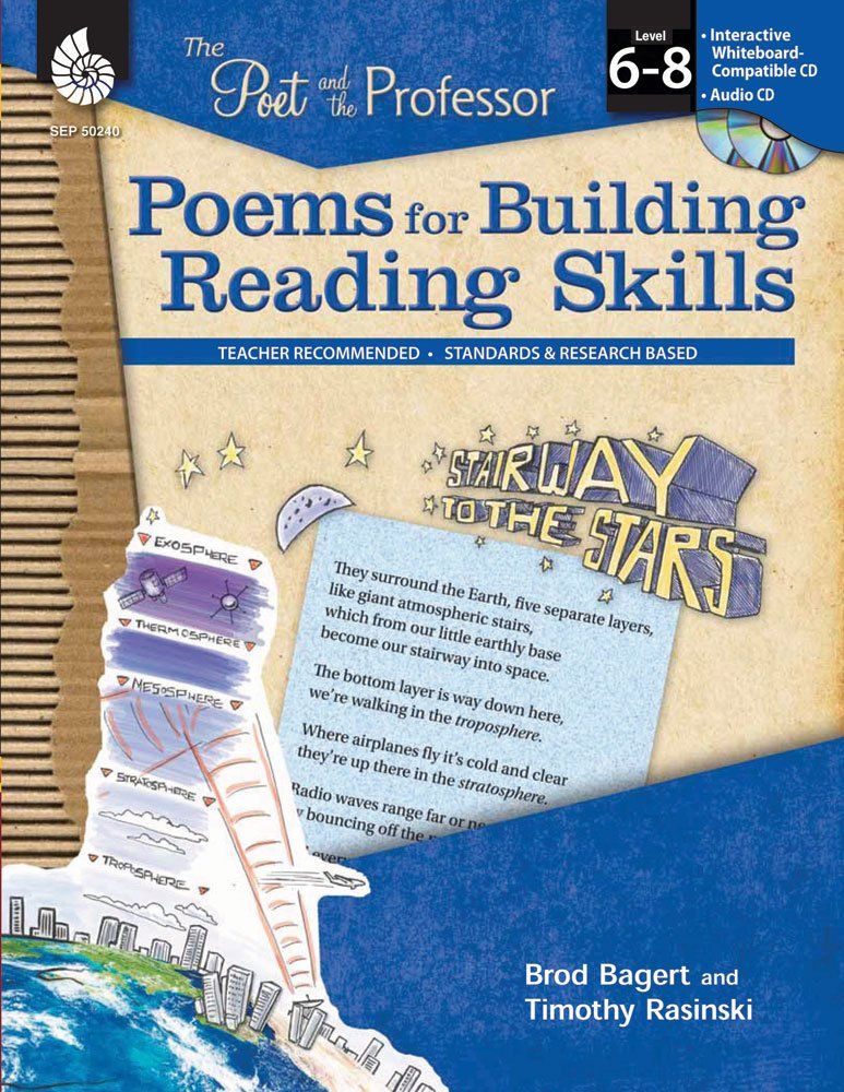 Poems for Building Reading Skills Levels 6-8 (The Poet and the Professor) by Shell Education