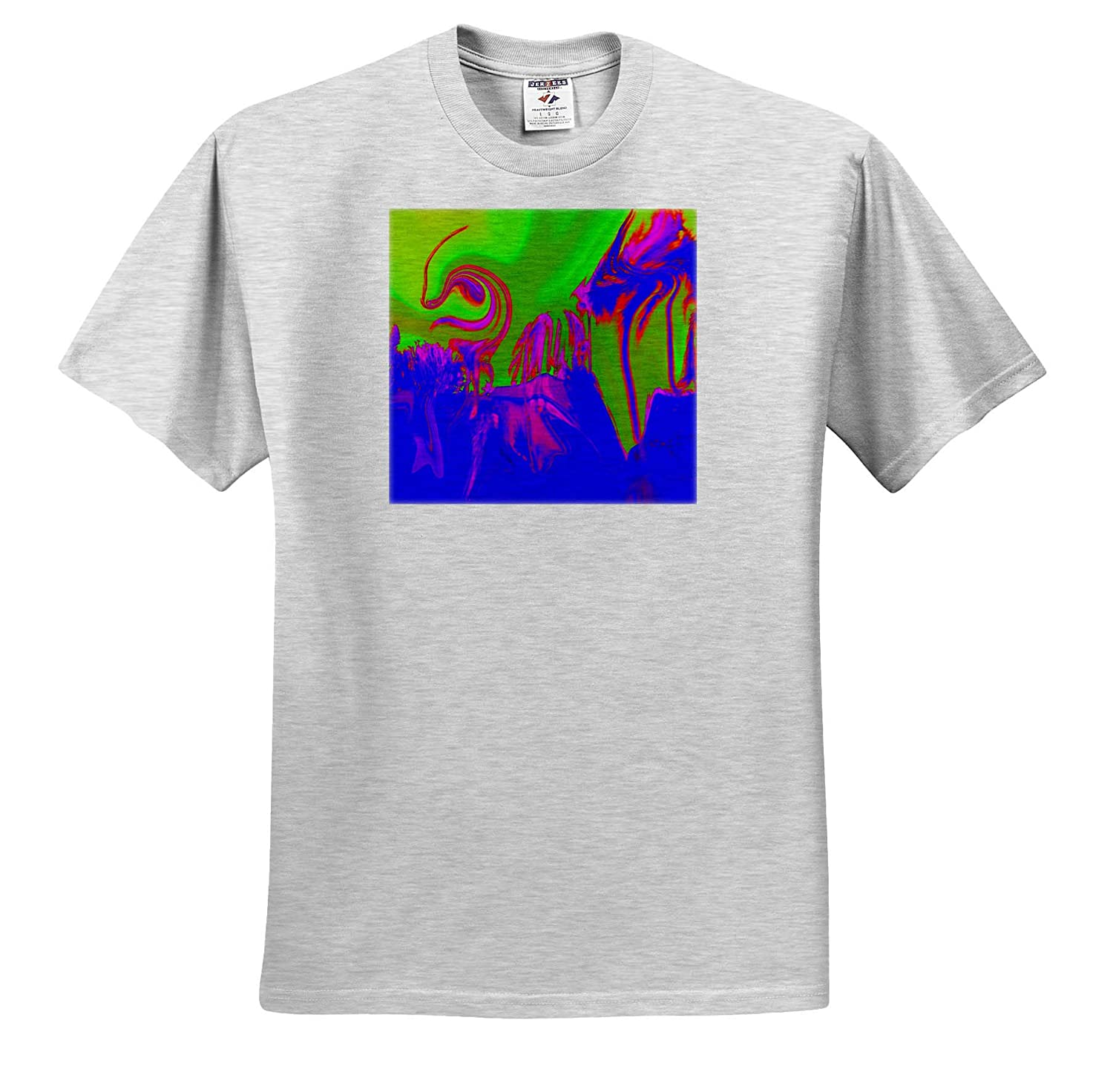 Image of Tornado Swirl and Palm in Blue Fuchsia and Lime 3dRose Lens Art by Florene Digital Paintings T-Shirts
