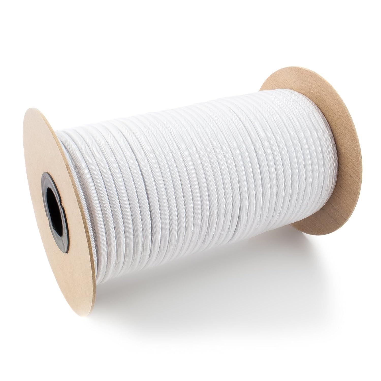 20m corde /élastique c/âble 12mm noir plusieurs tailles et couleurs