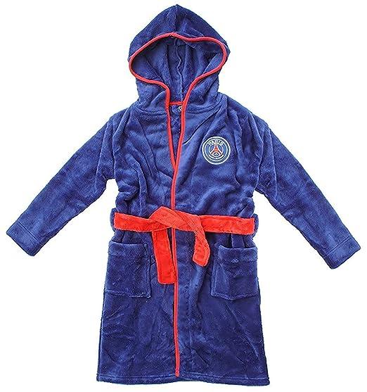 68913f67d8fe5 garçons officiel PSG PARIS SAINT GERMAIN à Capuche Robe de chambre peignoir  tailles de 3 pour 12 An: Amazon.fr: Vêtements et accessoires