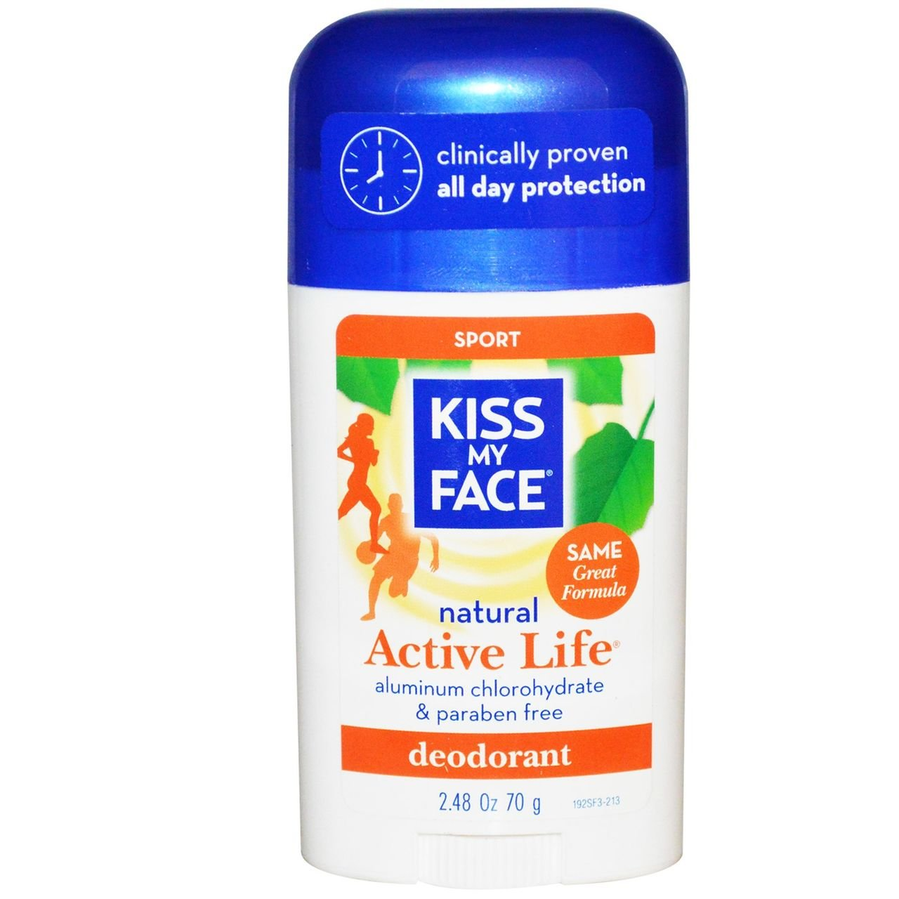 Kiss My Face Active Life Deodorant, Sport, 2.48-Ounce Stick, 1 Count 1900246
