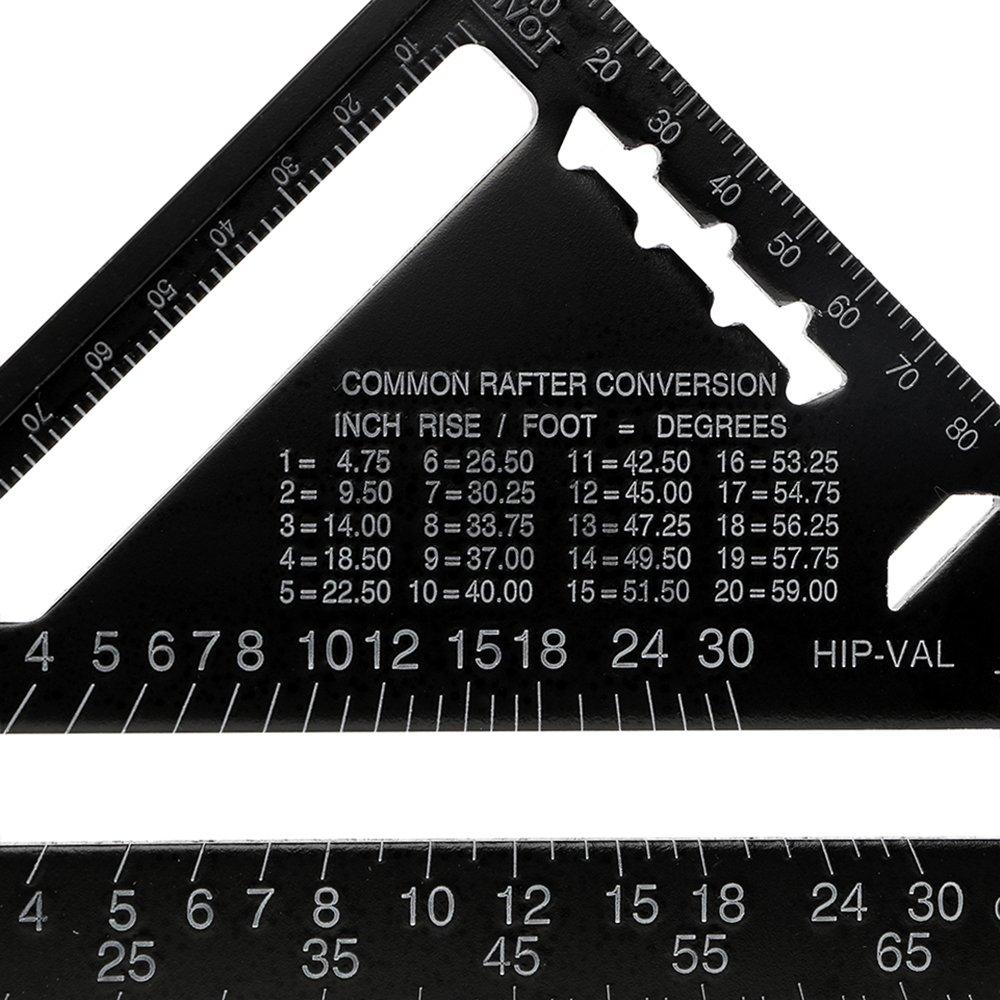 Dreieck Lineal Winkel Messungen Aluminium Legierung Metrisches System Mess-Werkzeug 17,8/cm