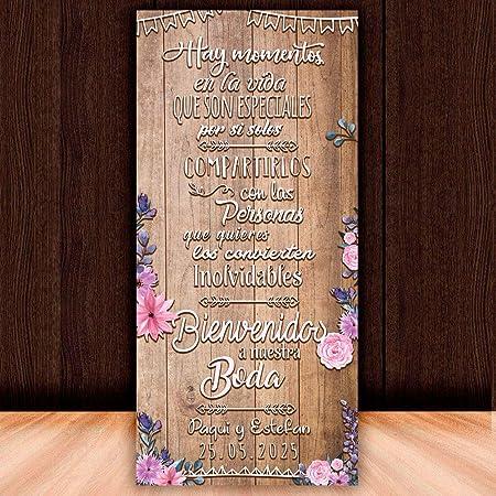 Decoración Boda | Cartel Boda Inolvidables | 70cm x 150cm