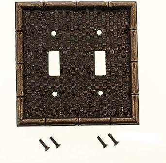 Leviton Brass Tiki Bamboo 2 Gang Switch Cover Plate Switchplate Switch Plates Amazon Com