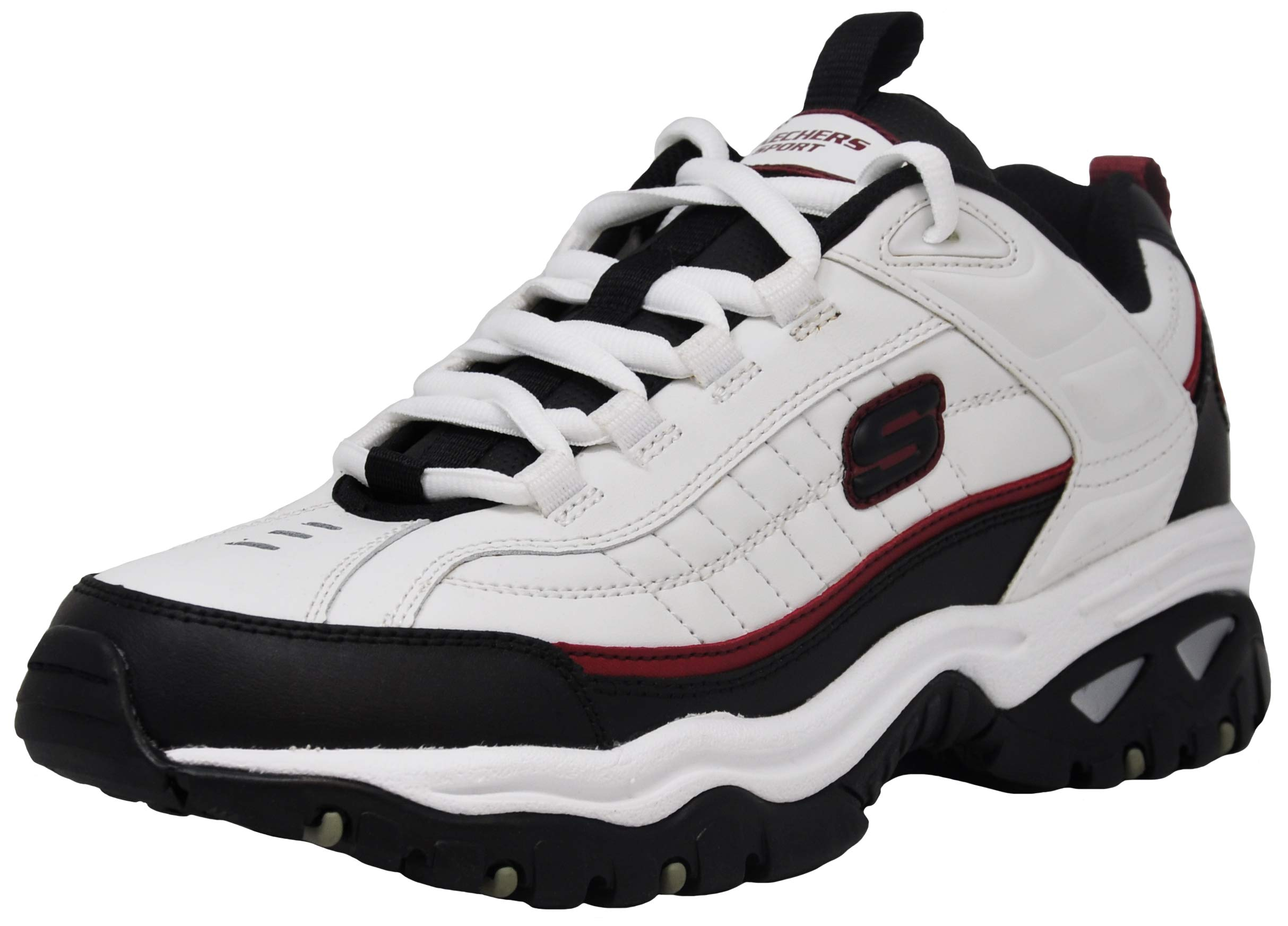 Skechers Men's Energy Afterburn Sneaker, White/Black/Red 11.5 M US by Skechers