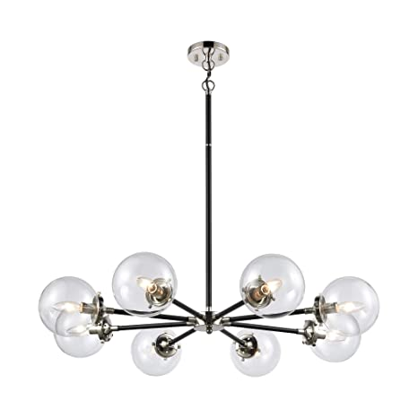 Amazon.com: Boudreaux 8-Light Chandelier in Matte Black with ...