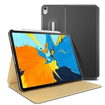 OMOTON Funda iPad Pro 11 Funda iPad Pro 11 2018 Carcasa, con Función Soporte, Apertura para Colocar Apple Pencil, Material Piel Artificial, Cierre ...