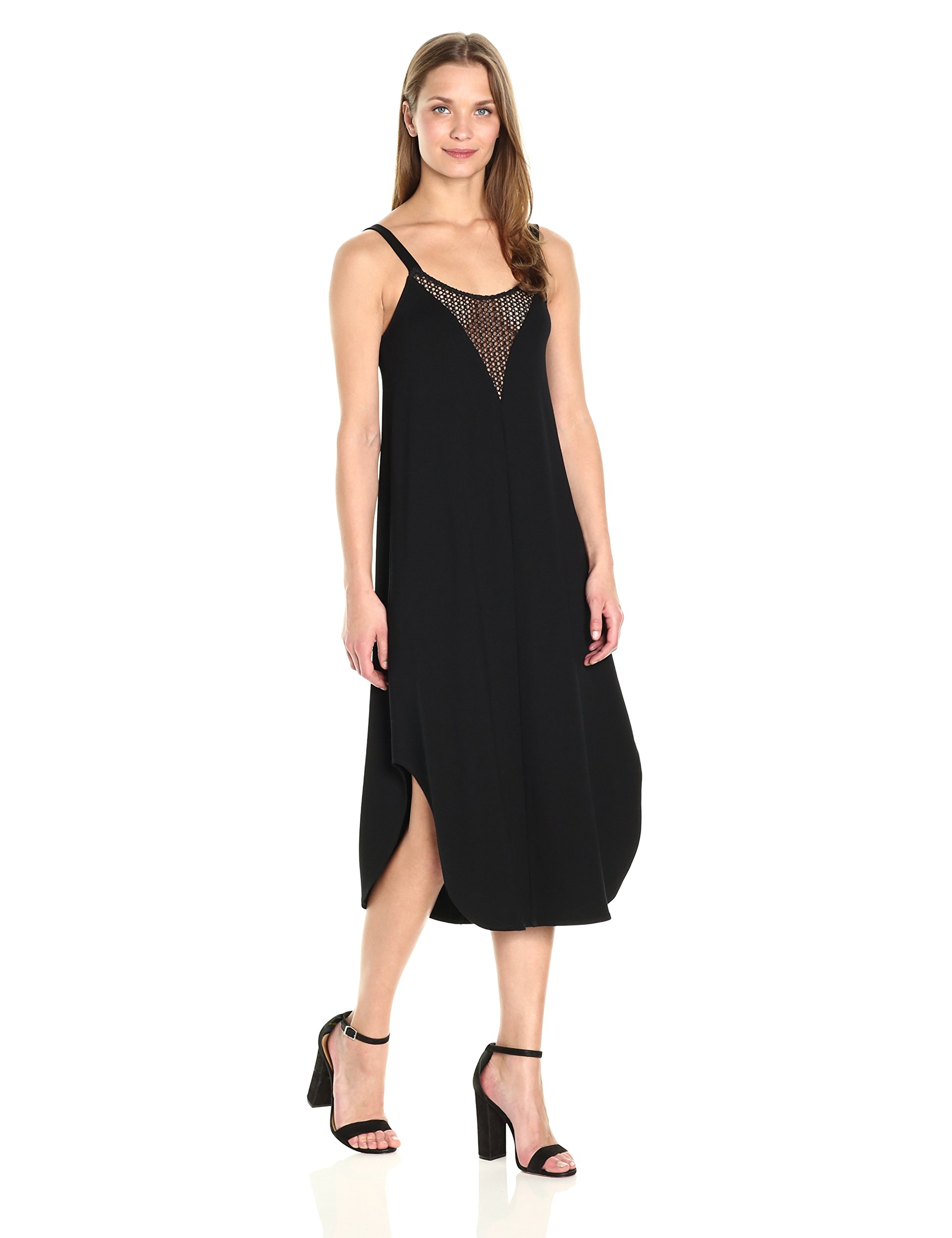 Only Hearts Women's So Fine Crochet Trim Slip Dress, Black, M