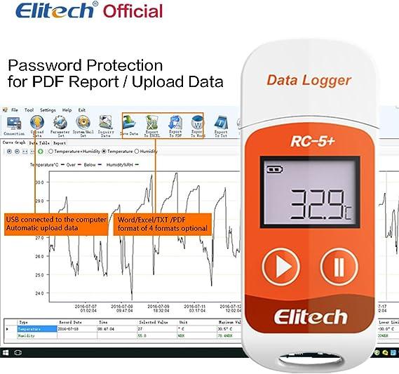 Elitech RC-5+ Registrador de Datos de Temperatura-generación ...