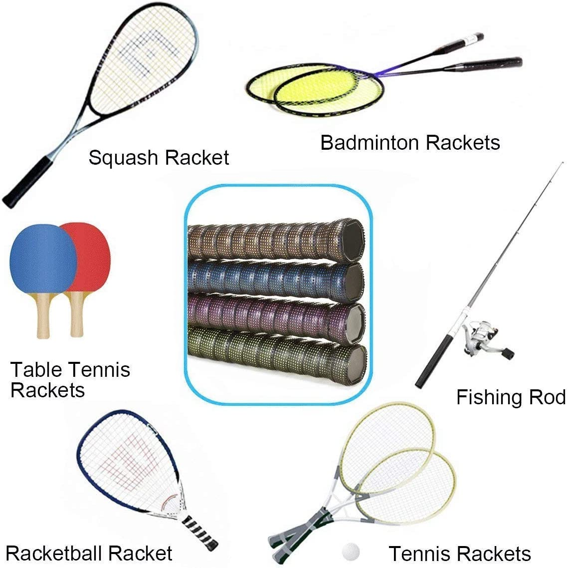 Overgrip para Raqueta de Tenis,sobregrip Raqueta de Squash Anti ...