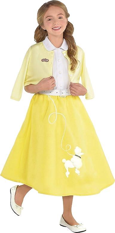 Grasa! Disfraz de verano para niña, talla mediana, para 8 a 10 ...