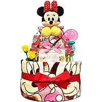 庆祝很受欢迎迪士尼米妮的纸尿裤蛋糕 / 宝宝的家庭 · 生日礼物礼品套装 ダイパーケーキ / 女孩