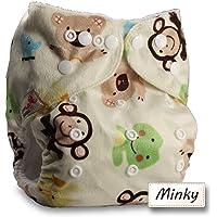 LittleBloom Bebé Pañales Lavables Pañal Reutilizable Insertos, Cierre: