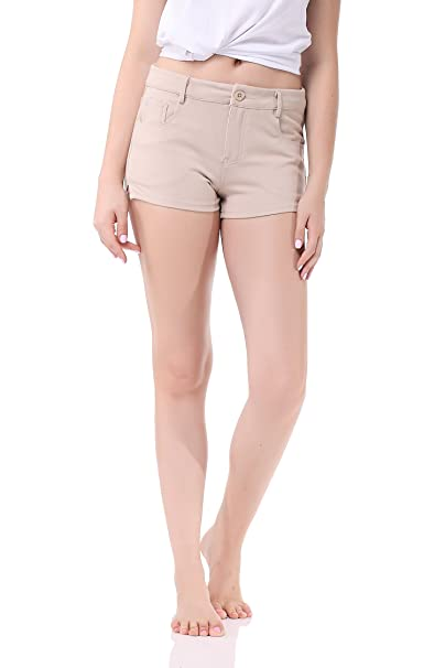f6e0ee9609 Pau1Hami1ton GP-02 Women's Bermuda Shorts Solid Summer Color Stretch ...