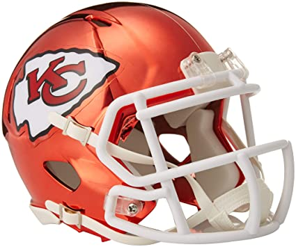 b3130c2d Riddell Chrome Alternate NFL Speed Authentic Mini Helmet Kansas City ...