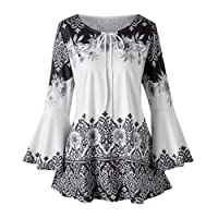 Mounter Women Short Sleeve Tops, Ladies Summer Casual Floral Drape Sleeve T-Shirt Shirts Blouse Clearance