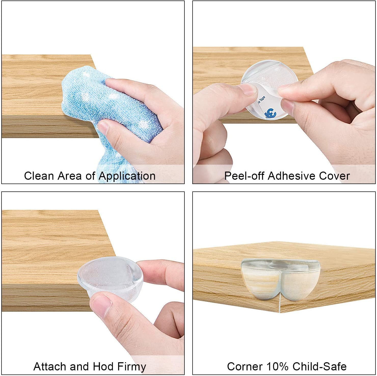 20 Pack Corner Protectors for Kids,Baby Proofing Corners,Protectors for Furniture Against Sharp Corners,Keep Baby Safety,Table Corner Protectors with Strong Adhesive Tape