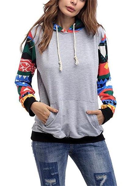 Tayaho Sudaderas Mujeres Camiseta con Manga Larga Blusa Vintage Guays T-Shirt Pullover Hipster Casuales Sudadera con Capucha Tops Bonitas Sweater Navidad: ...