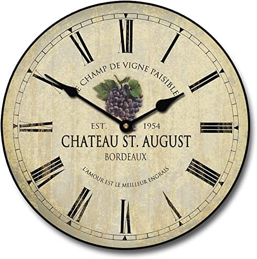 Wine Barrel Lid 3 Wall Clock