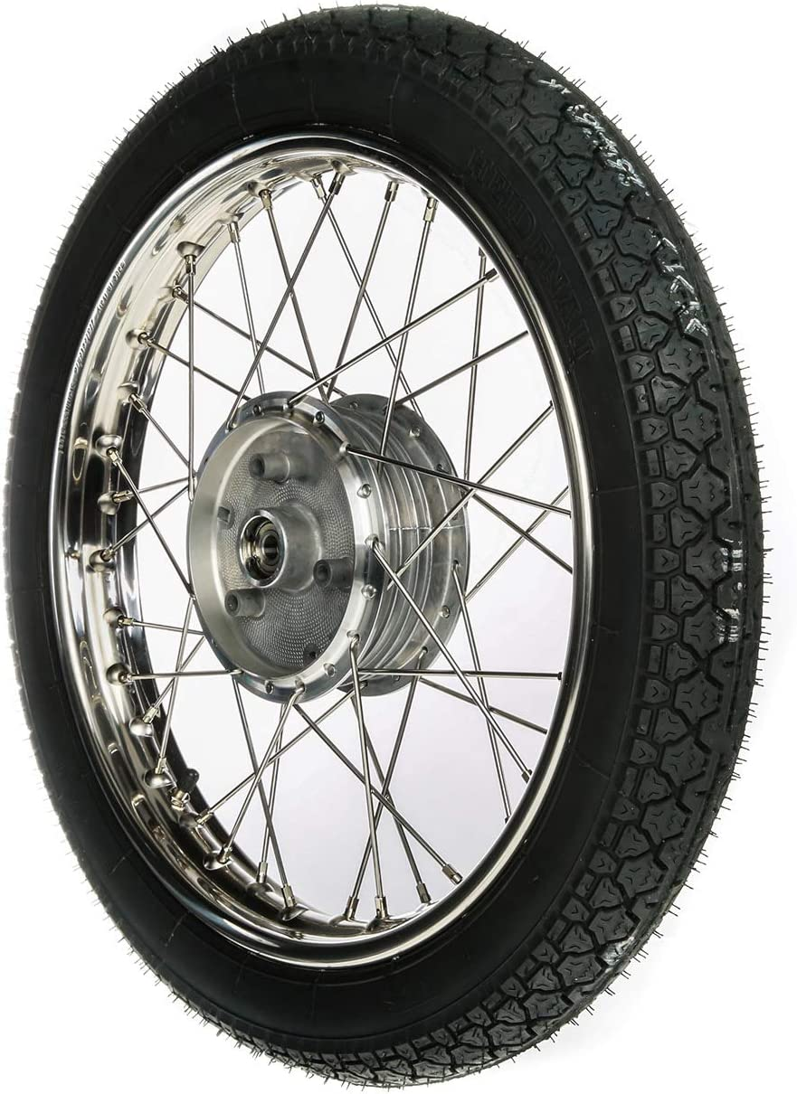 Reifen Heidenau K36//1 Chromspeichen MZA Komplettrad 1,5x16 Stahlfelge verchromt