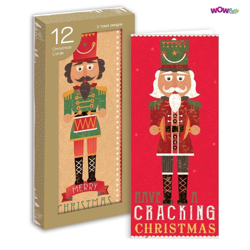 WOW 12 x Portrait Nutcracker Design Christmas Greeting Cards ...