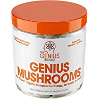 Genius Mushroom – Lions Mane, Cordyceps and Reishi – Immune System Booster & Nootropic Brain Supplement – Wellness…