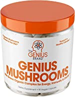 Genius Mushroom – Lions Mane, Cordyceps and Reishi – Immune System