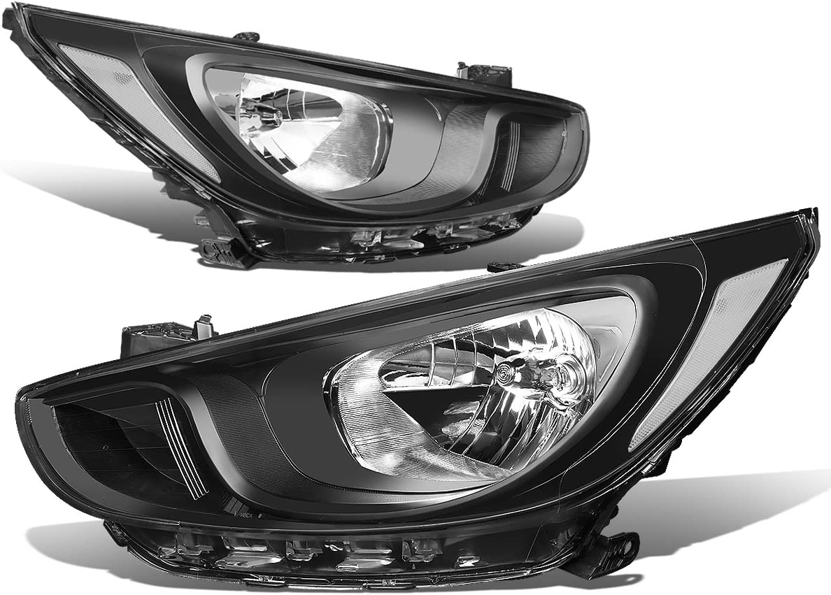 For Hyundai Accent 03-06 Factory Bumper Replacement Fit Fog Lights Clear Lens
