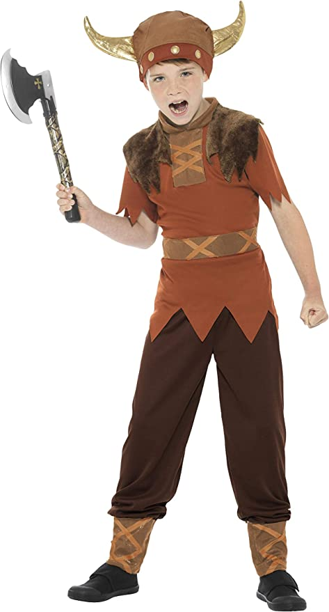 Smiffys - Disfraz de Vikingo para niño, Talla S (4 - 6 años ...