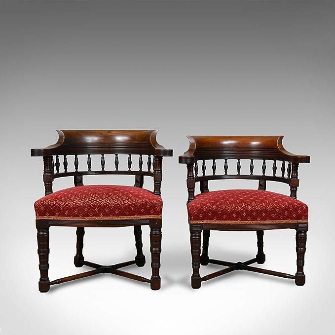 London Fine Antiques Circa 1900 - Juego de 2 sillas de salón ...