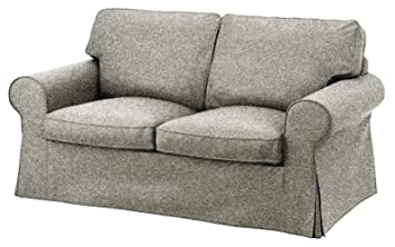 The Dense Cotton Ektorp Loveseat Cover Replacement is Custom Made for IKEA Ektorp Loveseat Sofa Slipcover (Polyester Flax)