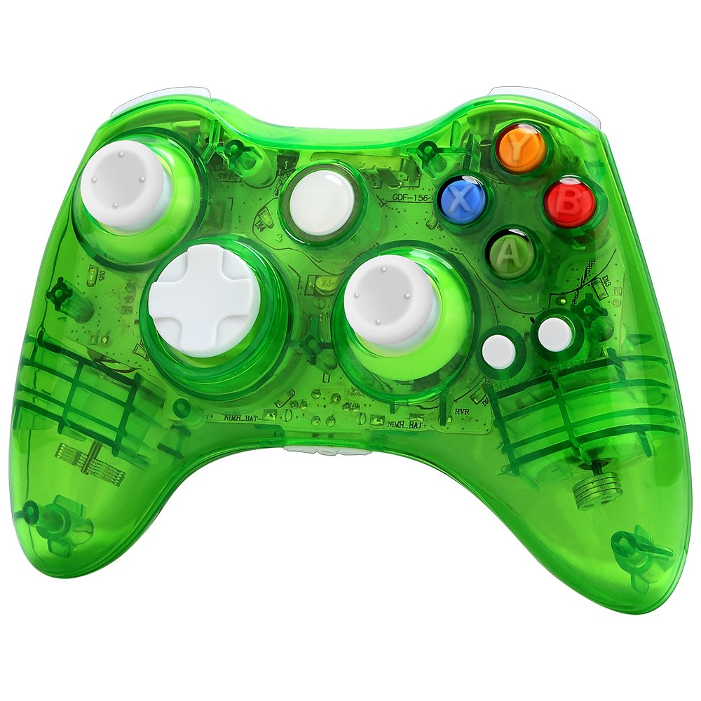 Xbox 360 Wireless Controller Zoewal FA03 Wireless Game Pad Controller for Windows & Xbox 360 Console-Green (Third-party manufacturing)