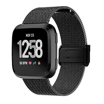 squarex Reloj Cuadrado de Malla de Acero Inoxidable para Fitbit ...