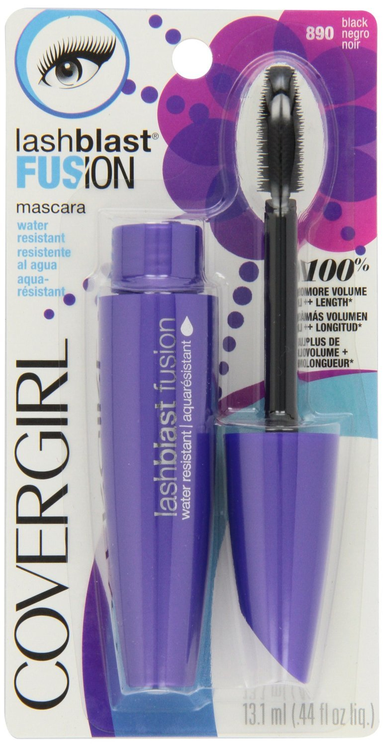 Amazon.com: Cg Mascara 890 Lb Fusion Size .44z Cover Girl Lashblast Fusion Mascara Water Resistant Black 890 .44oz: Beauty