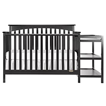 Dream On Me Chloe 5 In 1 Convertible Crib With Changer, Black