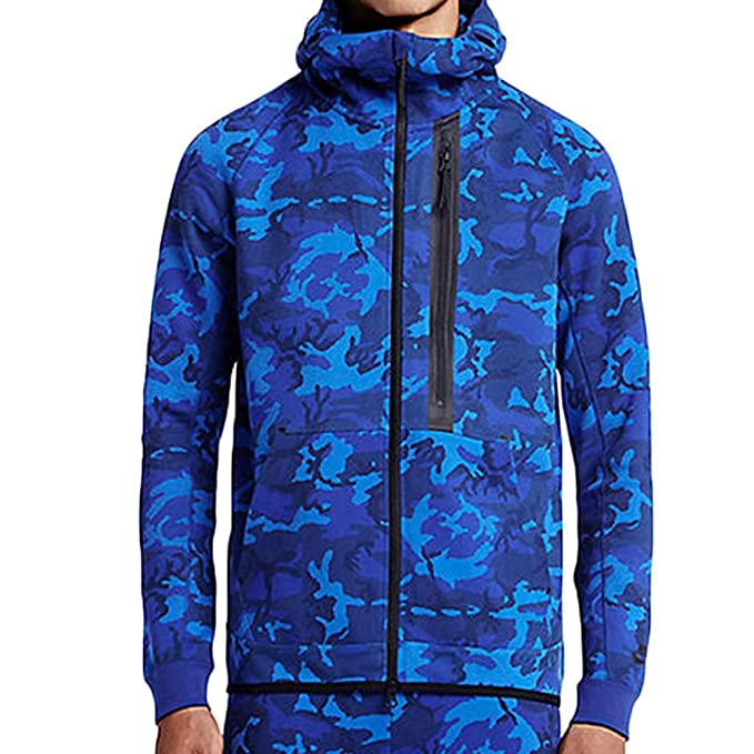 Nike Men\u0027s Camo Tech Fleece Windrunner Hoodie