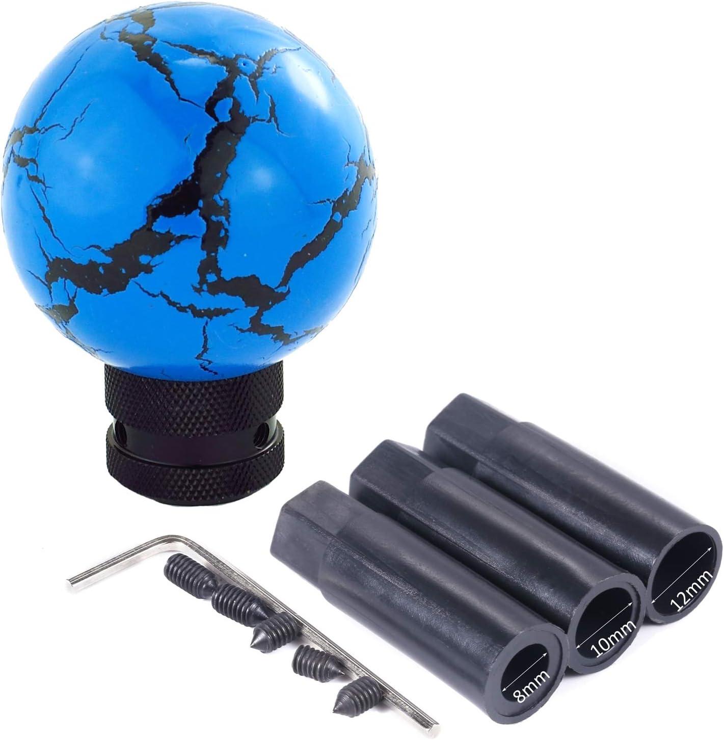 Blue Bashineng Gear Shift Knob Ball Shape Shifter Handle Knobs Fit Universal Manual Automatic Cars