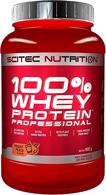 Scitec Nutrition Whey Protein Professional Proteína Yogur, Melocotón - 920 g
