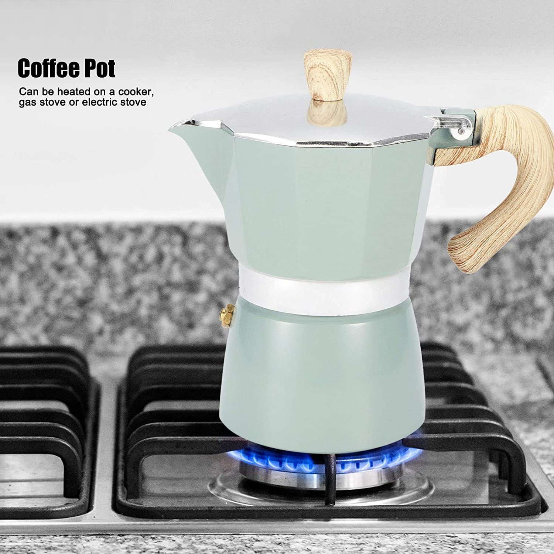 Estufa de café Cafetera de aluminio octogonal Hervidor de ...