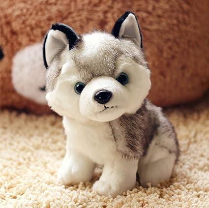 Amazon Com 18cm Simulation Husky Plush Toy Stuffed Animal Husky Dog