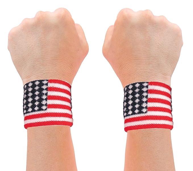 Amazon.com  Sweatband Wrist American Flag Wristband American Flag ... 4c454ed260e