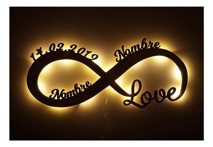Te amo por siempre Regalos originales - Para tu Ellos él Amiga Novia Amigo Novio Pareja Hombre - De Aniversario - De Novios - De Boda - LED Decoración ...