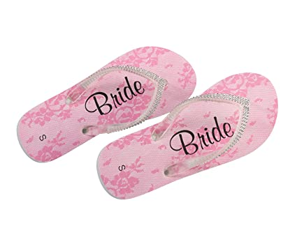1234fd7f969350 Image Unavailable. Image not available for. Color  Lillian Rose Bride Women  Small 5-6 Flip Flops