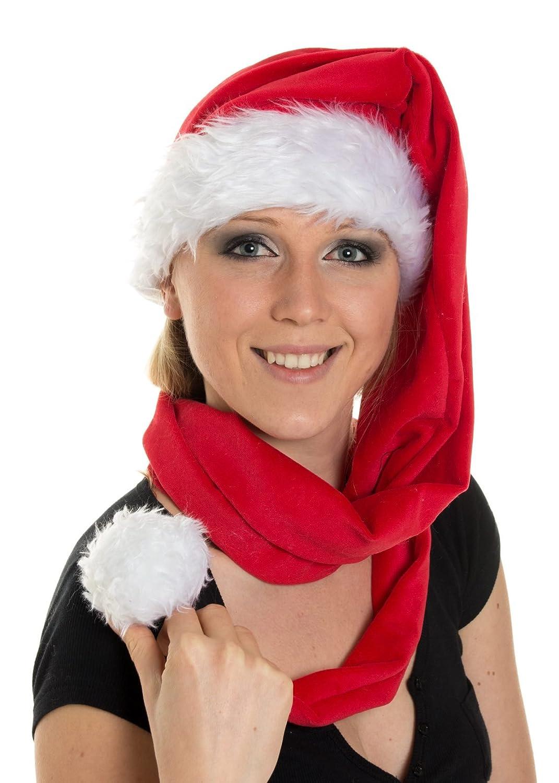 Ca 150cm Weihnachtsmütze Nikolausmütze Super als Schal benutzbar X1