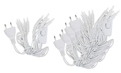 10er Mini Lichterkette,10 Lichter weisse Kabel Klare Lichter warm weiß