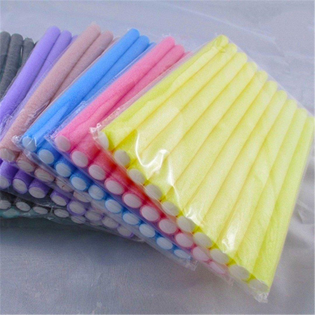 10 Pcs Soft Foam Curler Sticks DIY Hair Design Curl Roller Tool